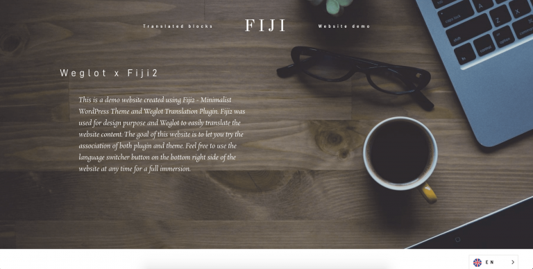 fiji2 theme wordpress translated weglot