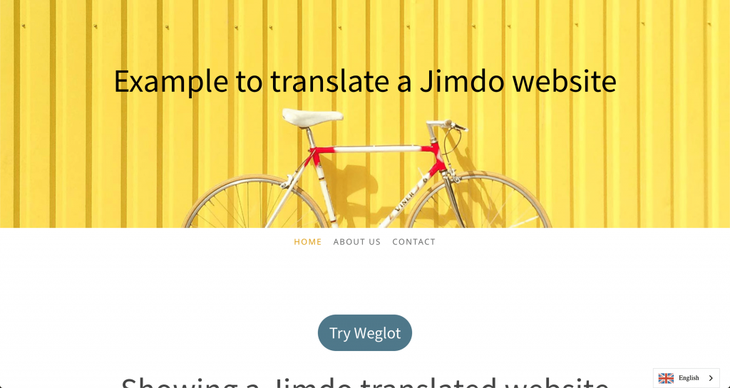 Example to translate a Jimdo website