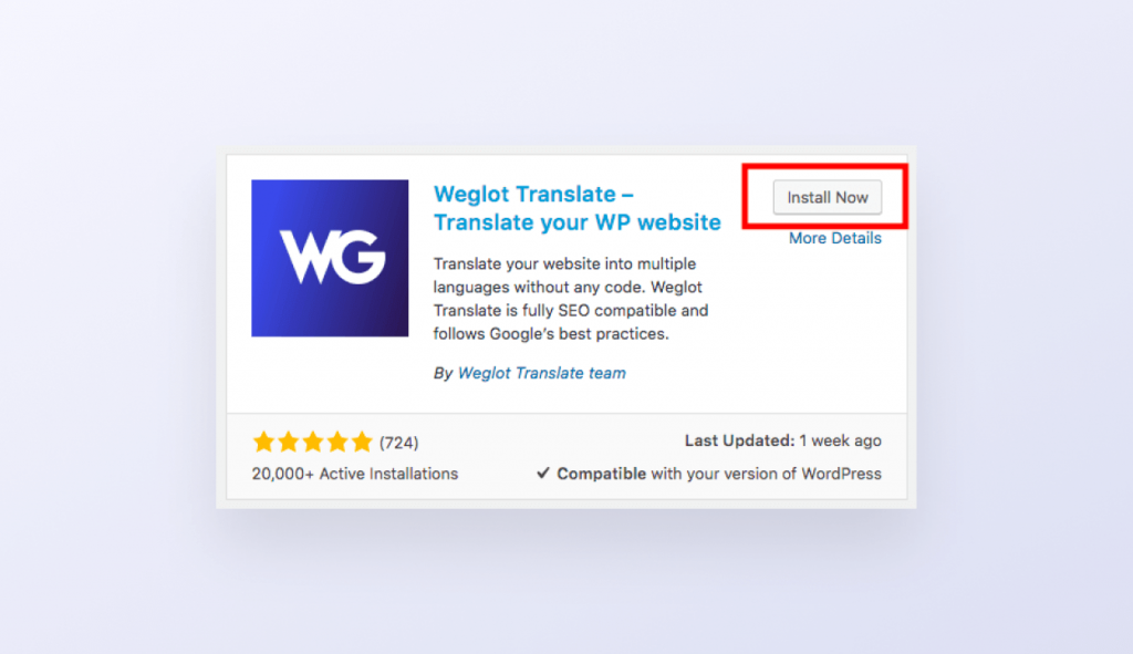 Weglot wordpress guide d'installation 3