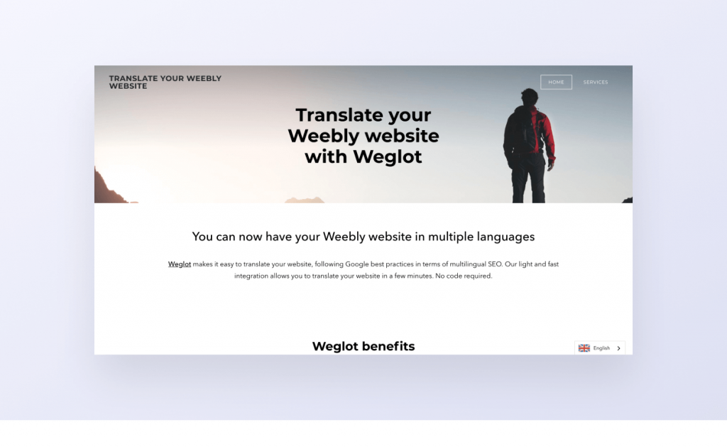 Weglot Guide d'installation Weebly
