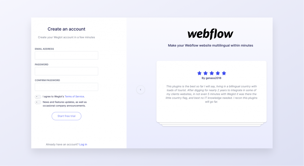 Webflow-signup