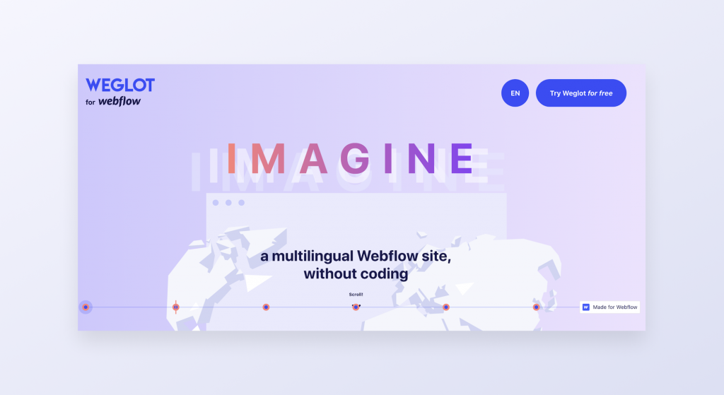Demo website with Weglot and Webflow