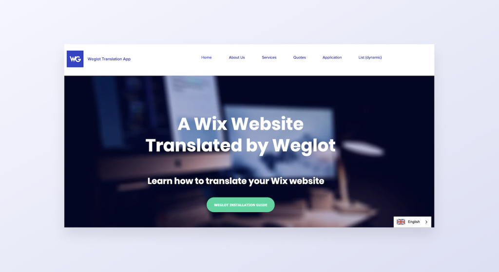 Wix and Weglot demo site