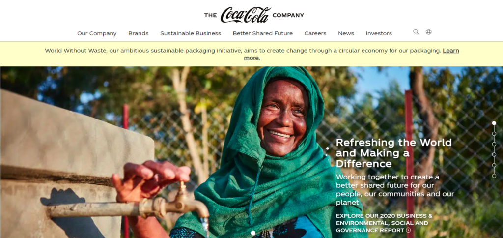 Global homepage for The Coca-Cola Company